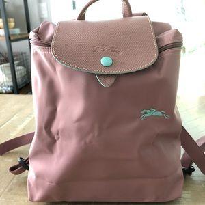Longchamp Le pliage backpack antique pink